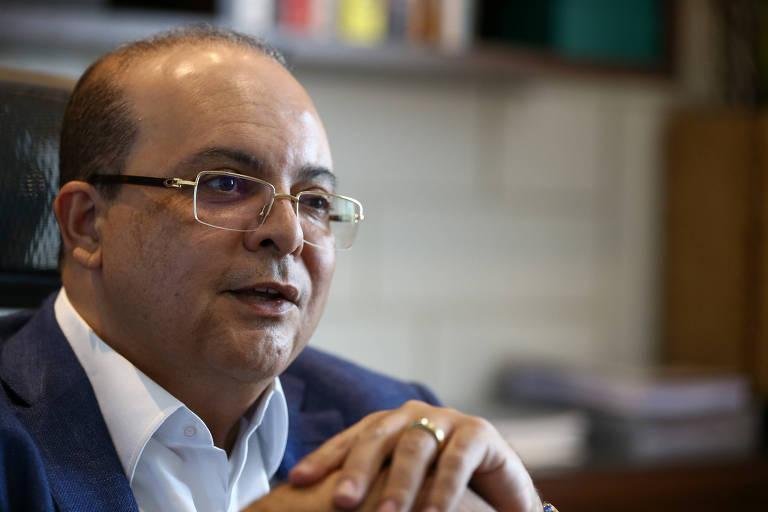 Candidato ao governo do DF Ibaneis Rocha (MDB)  durante entrevista à Folha, em sua casa
