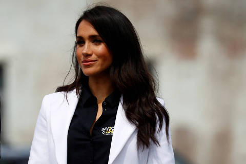 REFILE - CORRECTING IPTC BYLINE  Meghan Markle, the Duchess of Sussex, attends the Invictus Games Sydney 2018 Jaguar Land Rover Driving Challenge on Cockatoo Island, Sydney, Australia October 20, 2018. REUTERS/Phil Noble ORG XMIT: LLP130