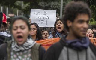 Protesto de estudantes secundaristas em SP, contra o projeto Escola Sem Partido