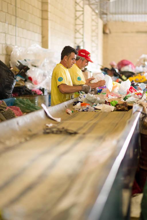 Cooperativa de reciclagem do programa Novo Ciclo, da Danone