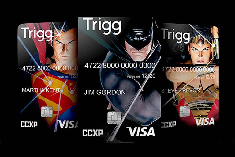 Trigg lança cartão com os heróis da DC