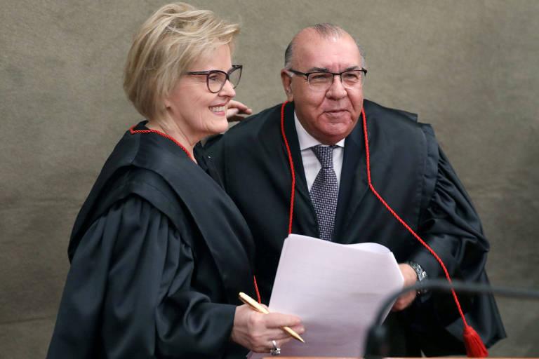 Ministro Jorge Mussi com a presidente do TSE, ministra Rosa Weber