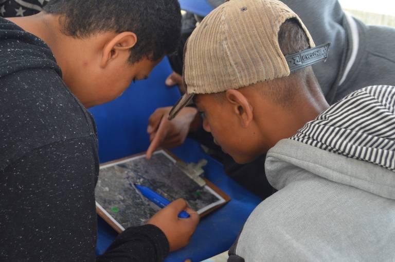 Alunos da Escola Municipal de Caputera aprendem sobre poluição fluvial