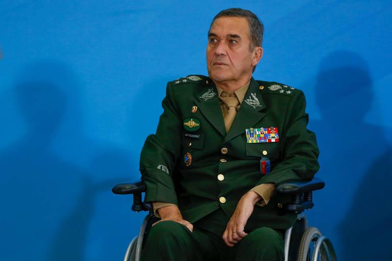 O comandante do Exército, general Eduardo Villas Bôas, durante cerimônia no Palácio do Planalto