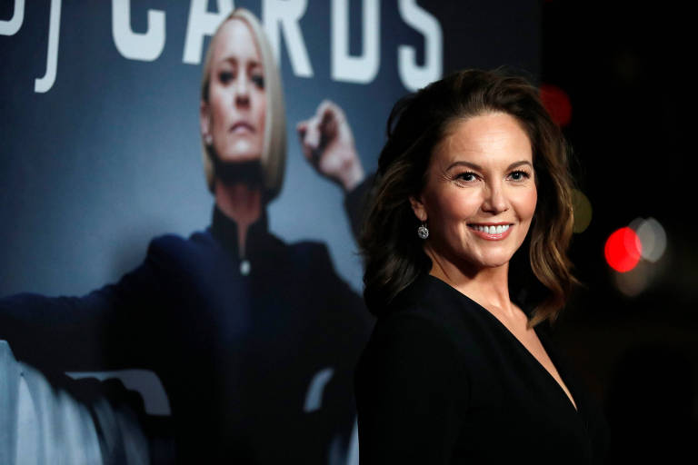 """Diane Lane posa em lançamento de """"House of Cards"""" em Los Angeles"""