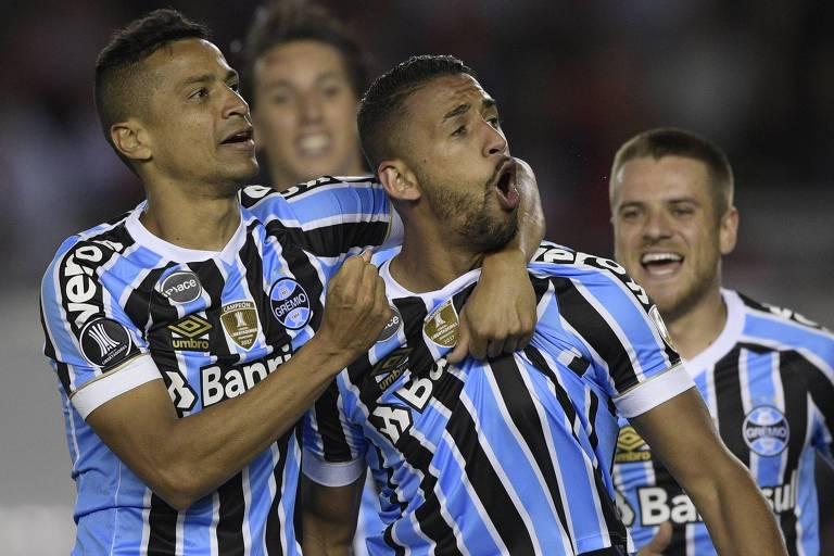 Michel fez o gol da vitória do Grêmio no Monumental de Nuñez