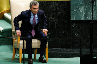 Argentina's President Macri addresses the United Nations General Assembly in New York