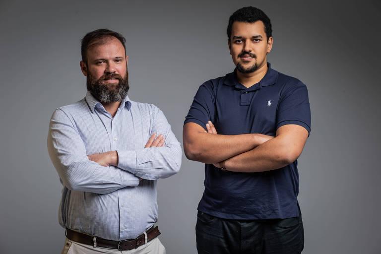 Os engenheiros Anderson Pavanello (à esq.), 38, e Bruno Bezerra, 29