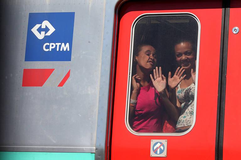 Os trens da CPTM