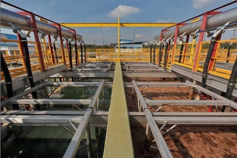 Planta de tratamento de dejetos químicos industriais da Braskem