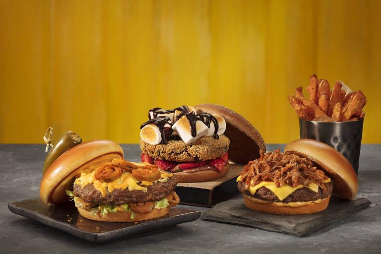 Outback lança festival de hambúrgueres com três novos sanduíches, incluindo uma receita doce