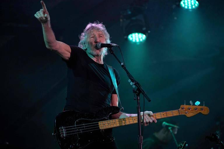 O músico britânico Roger Waters durante show no Rio de Janeiro