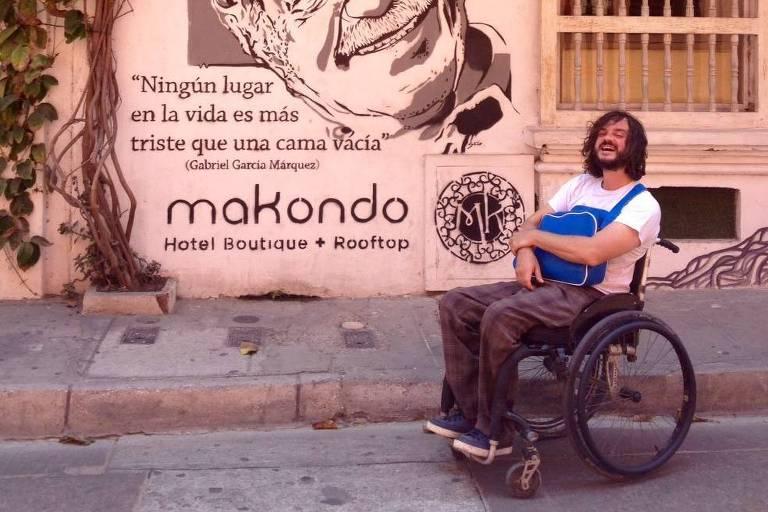 Bruno Favoreto, 36, em Cartagena, na Colômbia
