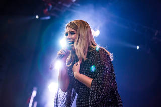 Show da cantora Marília Mendonça no palco do Vivo Rio, no Rio de Janeiro