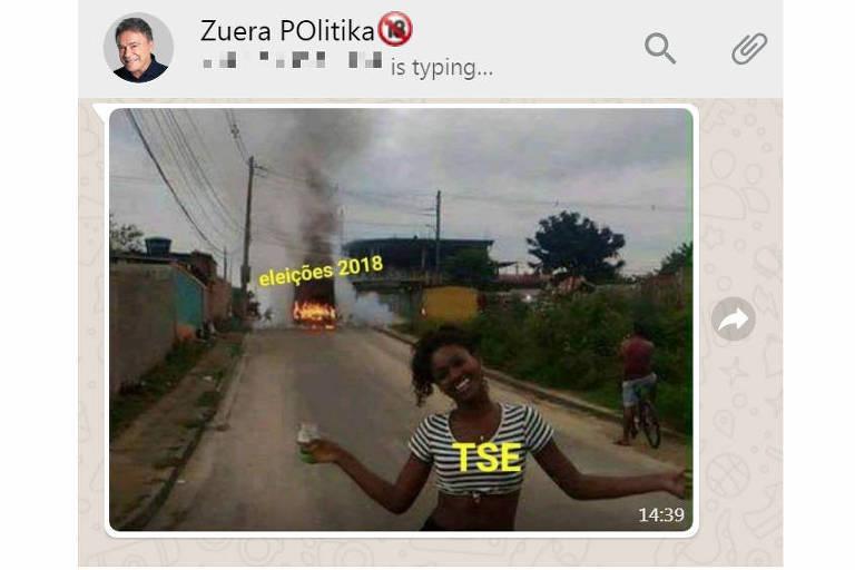 Meme é replicado em grupo de WhatsApp ironizando atuação do TSE nestas eleições