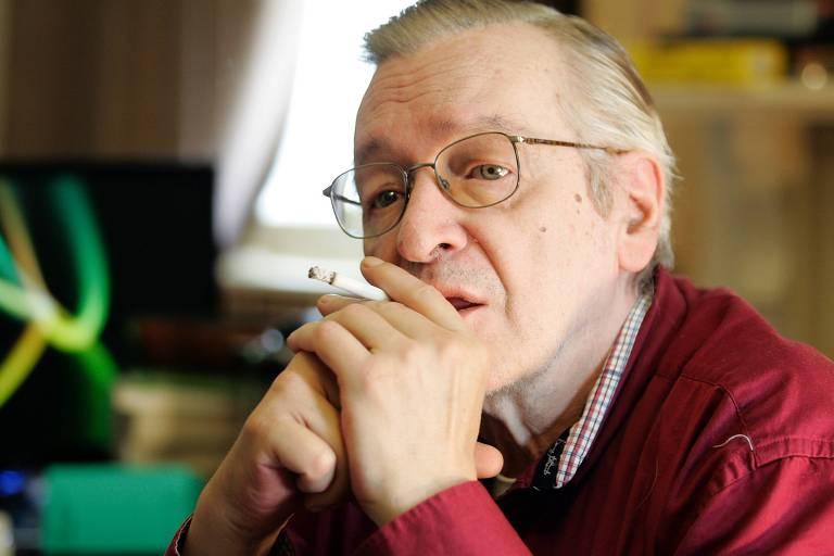 O escritor conservador brasileiro Olavo de Carvalho, que vive nos EUA