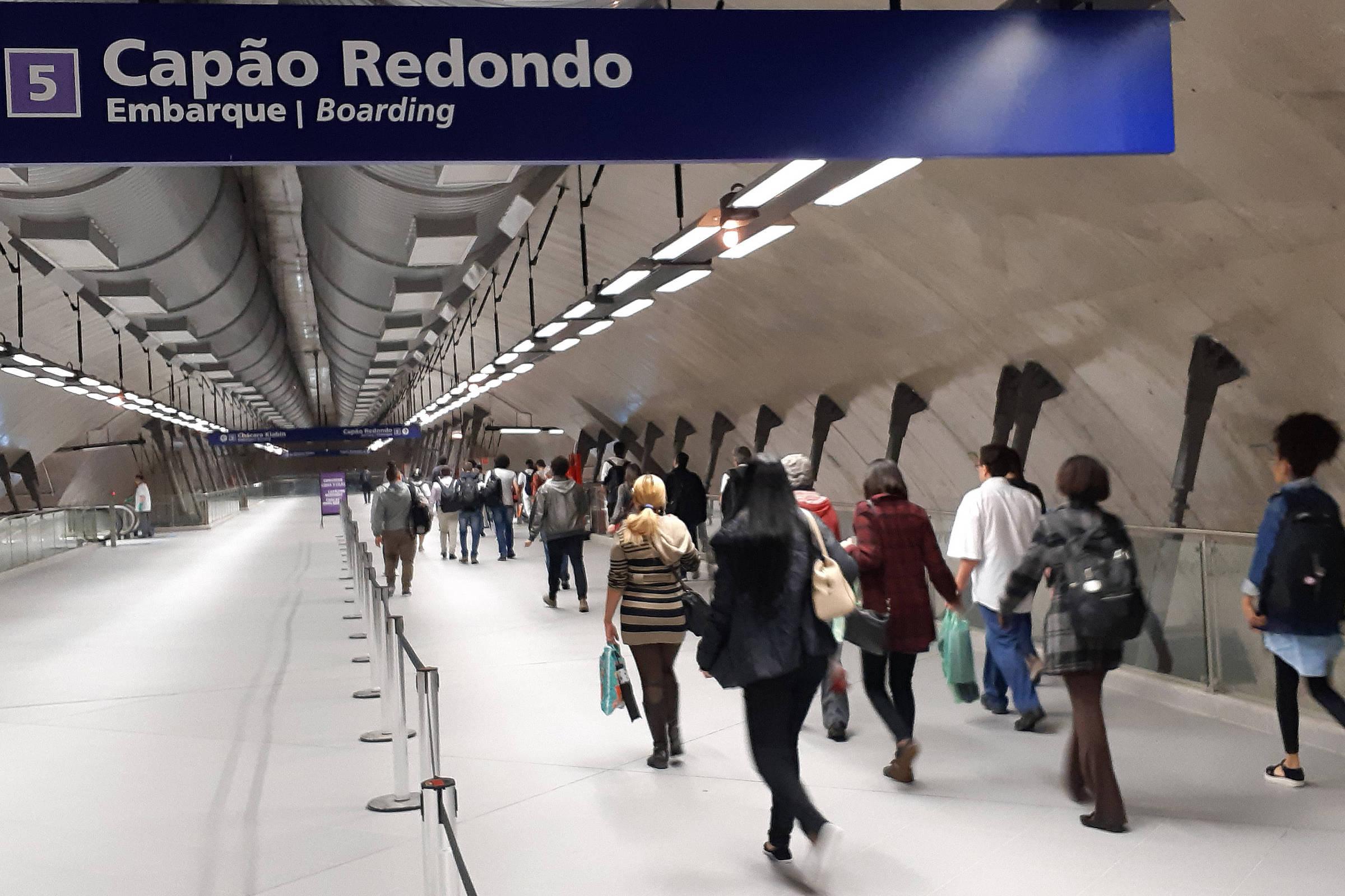 Após conexões, número de passageiros dobra na linha 5-lilás do metrô em SP  - 26 10 2018 - Cotidiano - Folha b21252cc40