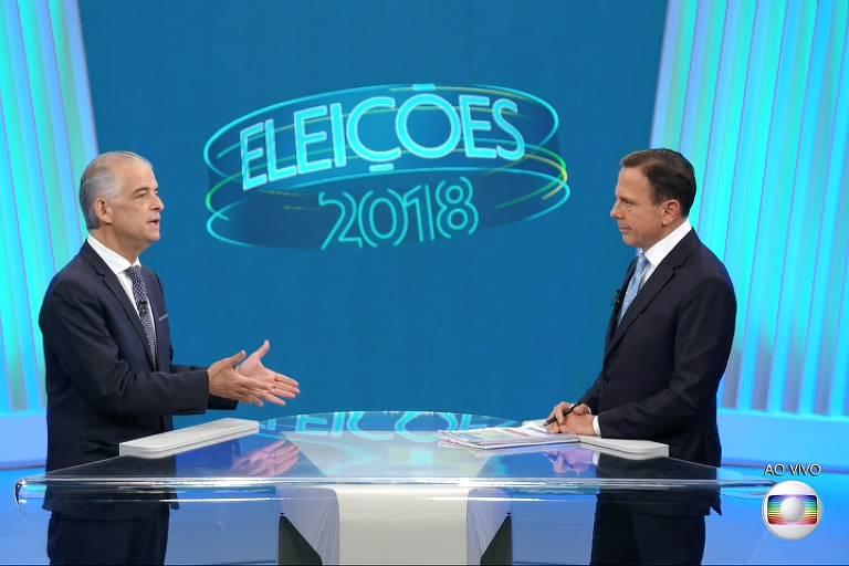 Último debate entre os candidatos ao governo de São Paulo, entre Márcio França (PSB) e João Doria (PSDB)