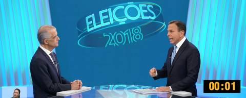 Último debate entre os candidatos ao governo de São Paulo, João Doria (PSDB) e Márcio França (PSB)