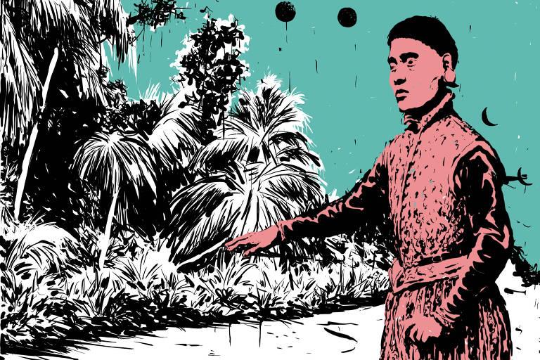 Ilustração sobre descendentes de índios que viraram nobres na França
