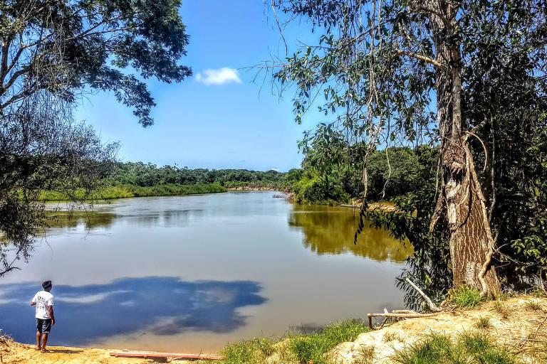 Representante de uma das etnias do Parque Indígena do Xingu (MT), que têm receio de uma possível eleição de Jair Bolsonaro (PSL)