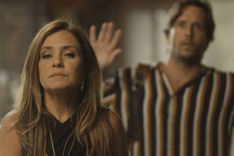 """Laureta (Adriana Esteves) e Remy (Vladimir Brichta) em cena de """"Segundo Sol"""""""