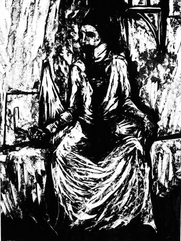 gravura de mulher