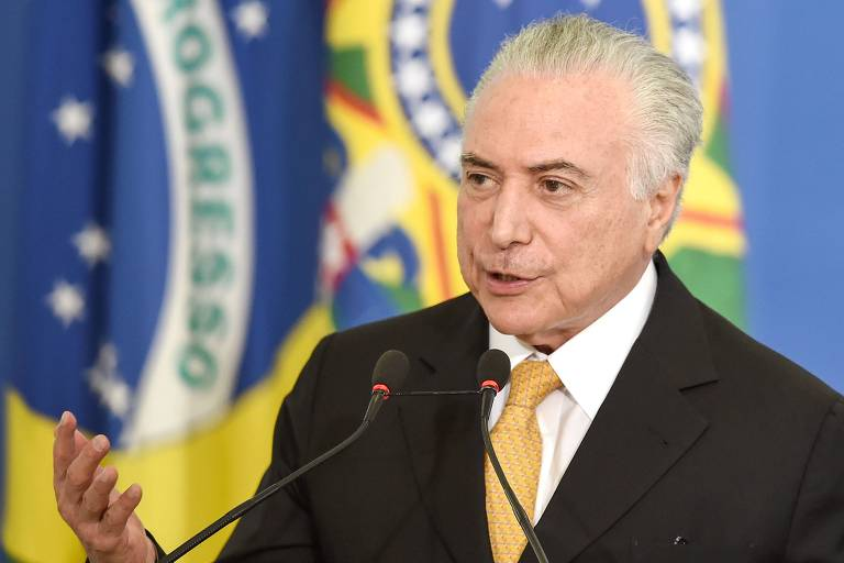 O presidente da República, Michel Temer (MDB), fala durante um evento no Palácio do Planalto