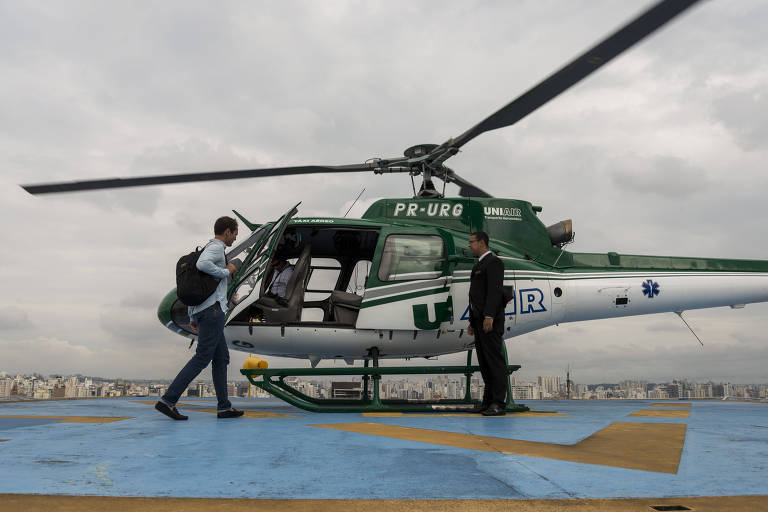 Helicóptero da Voom, empresa de voos sob demanda, que atende São Paulo e a Cidade do México