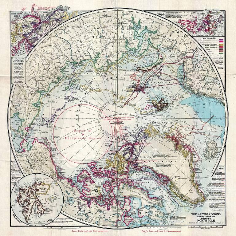 Anexo do volume 6 da Coleção Folha O Mundo pelos Mapas Antigos