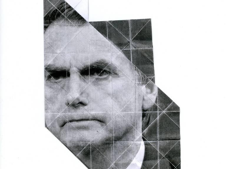 Dobradura de fotografia do candidato Jair Bolsonaro (PSL)
