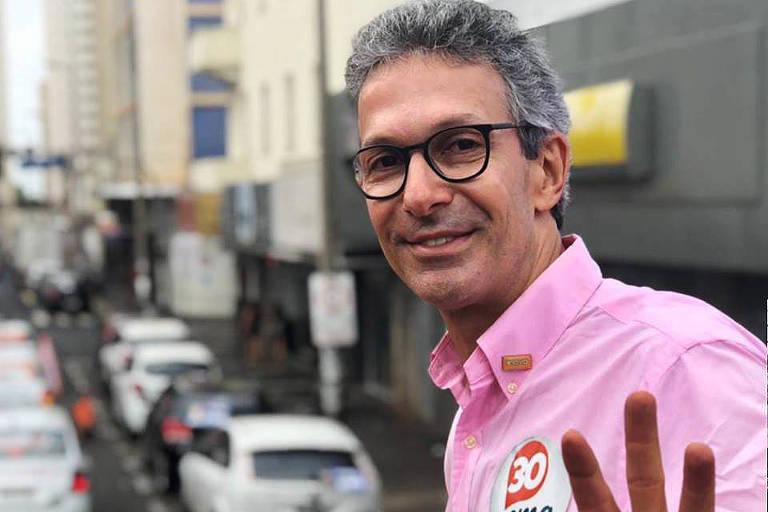 O candidato ao governo de Minas Gerais Romeu Zema (Novo)