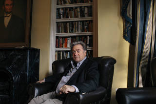 Steve Bannon at the townhouse where he lives part-time in Washington.