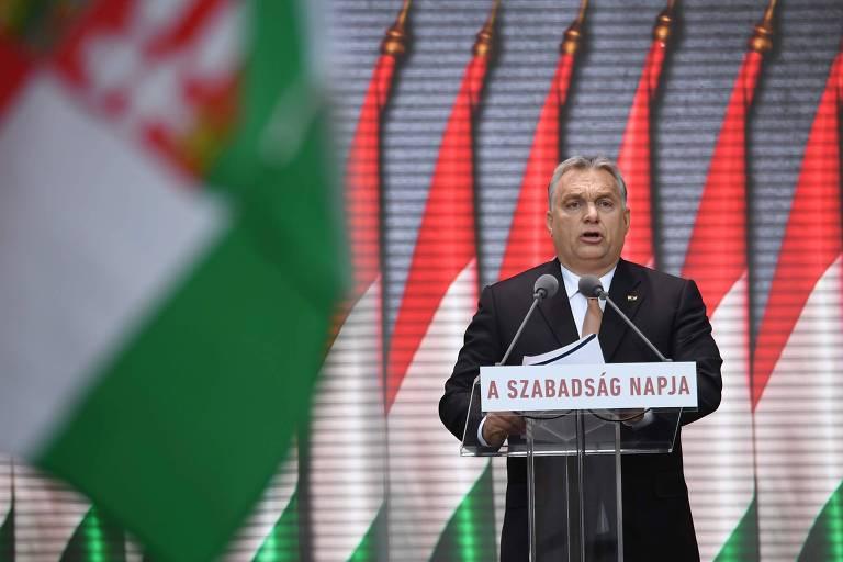 O premiê húngaro Viktor Orban, de extrema direita, um dos representantes da onda conservadora no mundo