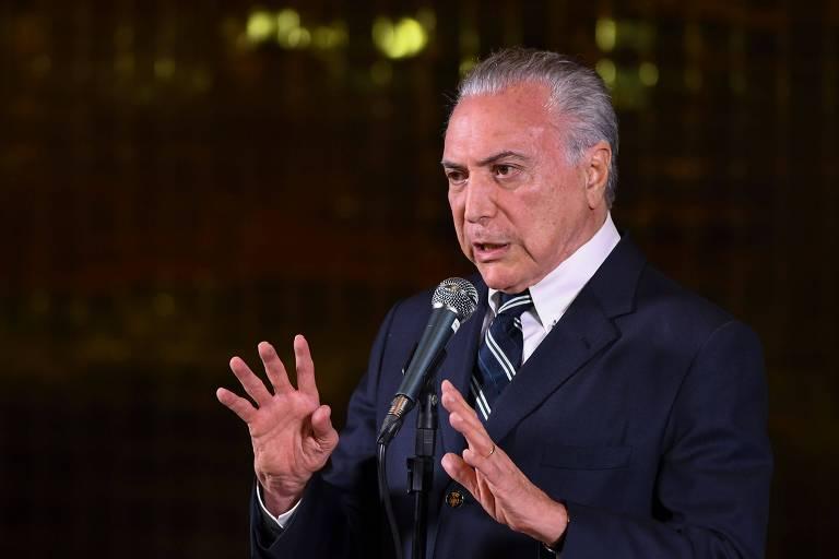 Presidente Michel Temer em discurso após anúncio da vitória de Jair Bolsonaro