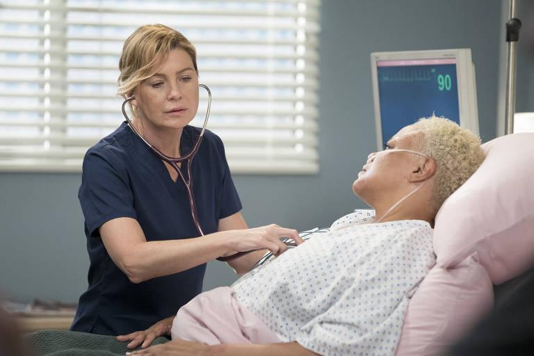 """A série médica """"Grey's Anatomy"""" é protagonizada pela dra. Meredith Grey (Ellen Pompeo)"""