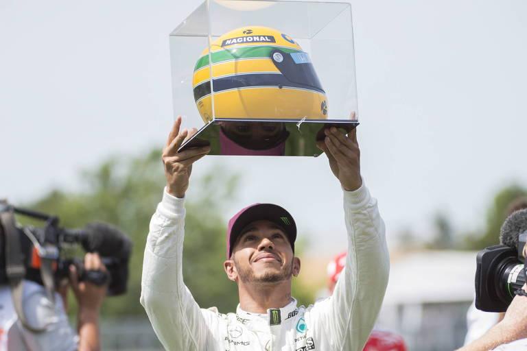 Hamilton e Senna