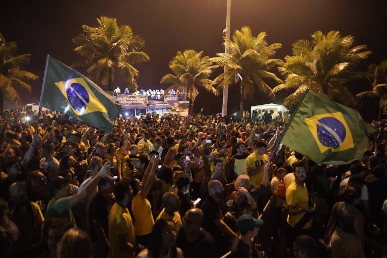 Festa da vitória de Jair Bolsonaro para a Presidência da República