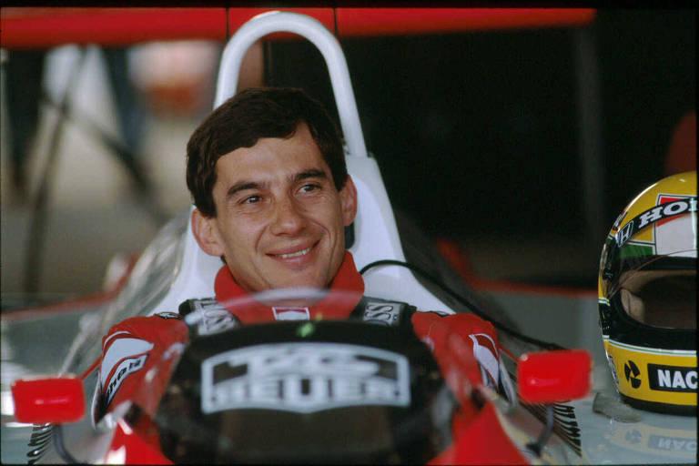 Senna momentos antes da prova que lhe rendeu o título da temporada de 1988