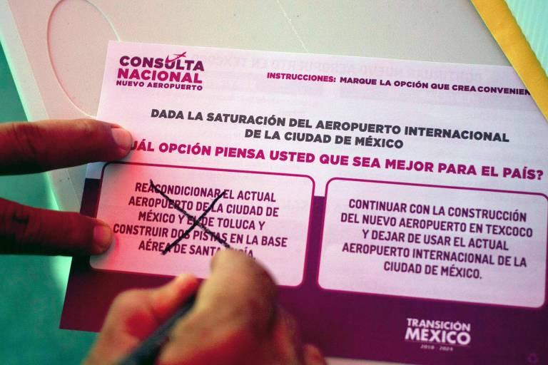 Presidente desiste de aeroporto, e peso mexicano tem maior queda mundial