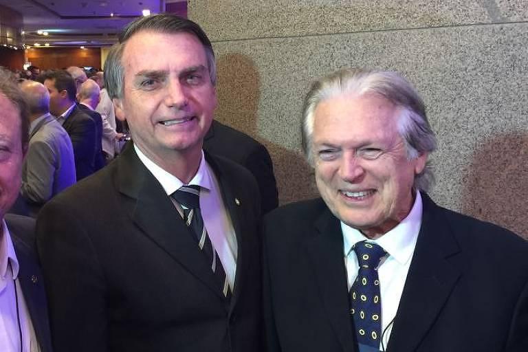 Jair Bolsonaro e o presidente do PSL Luciano Bivar