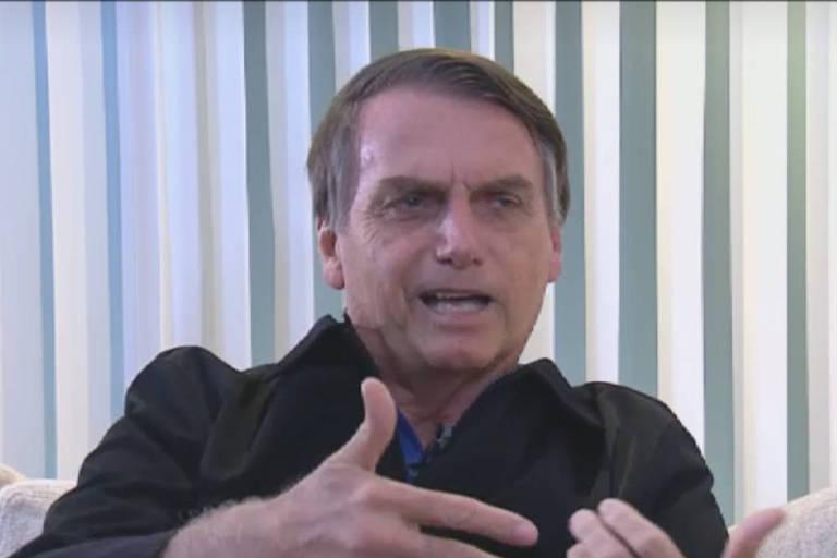 O presidente Jair Bolsonaro deu sua primeira entrevista após ser eleito para a Record, em 29 de outubro de 2018