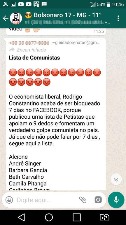 Grupos de WhatsApp pedem dislikes a artistas que não apoiaram Jair Bolsonaro (PSL)