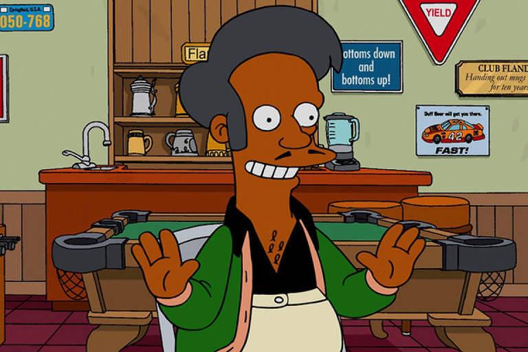 Personagem Apu, do seriado 'Os Simpsons'