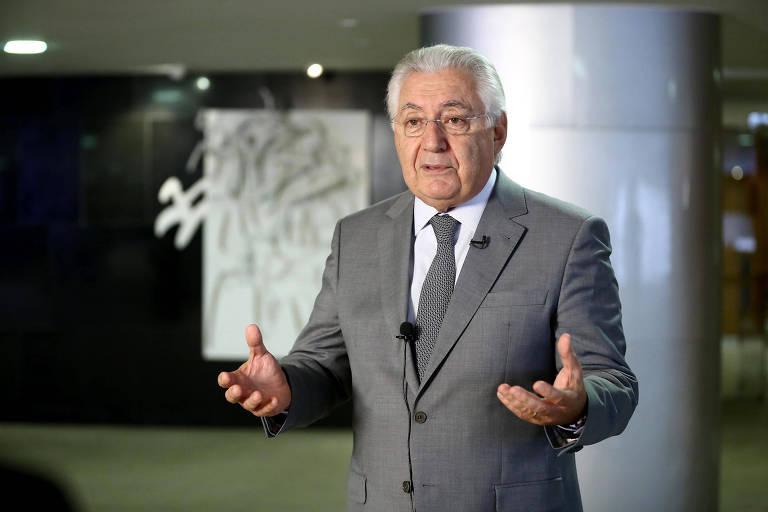 Retrato do presidente do Sebrae, Guilherme Afif Domingos