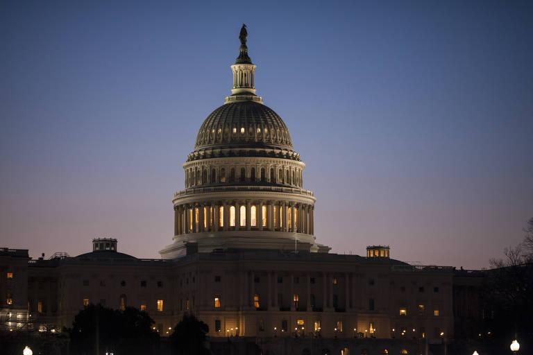 O Capitólio americano, em Washington; eleição vai decidir se republicanos manterão o controle de Câmara e Senado