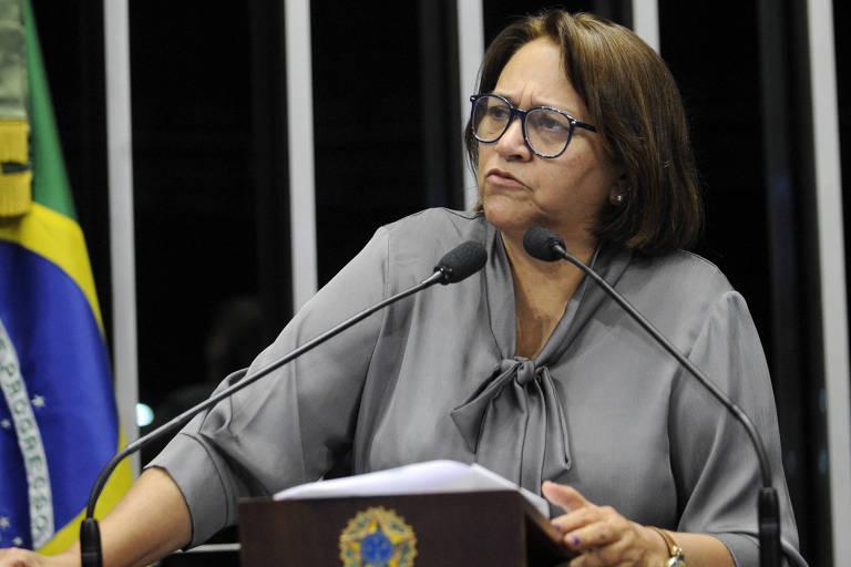 Plenário do Senado durante sessão deliberativa ordinária.Em discurso, senadora Fátima Bezerra (PT-RN).Foto: Jefferson Rudy/Agência Senado