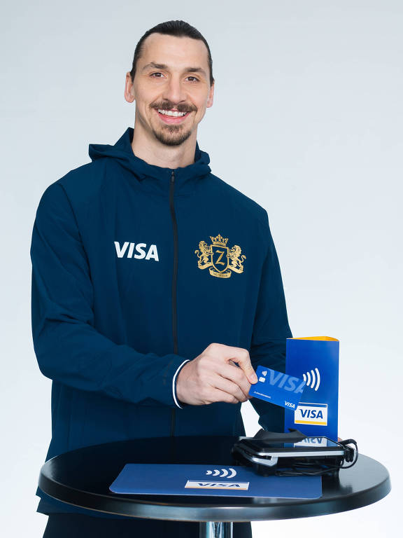 .O jogador de futebol sueco Zlatan Ibrahimovic é garoto-propaganda da Visa