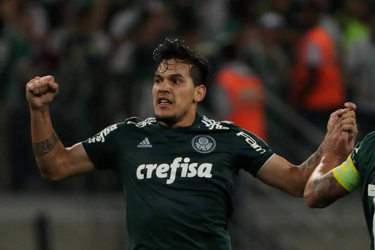 O zagueiro palmeirense Gustavo Gómez, um dos pilares do sistema defensivo da equipe