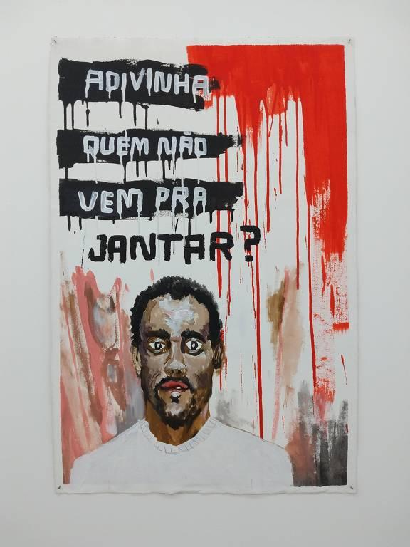 Mostra na Galeria Sancovsky reúne pinturas do cartunista Allan Sieber que usam o humor como instrumento de crítica social